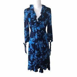 Draper James Blue Floral Wrap Dress 2